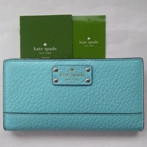 Kate Spade Bay Street Stacy Bifold in Atoll Blue